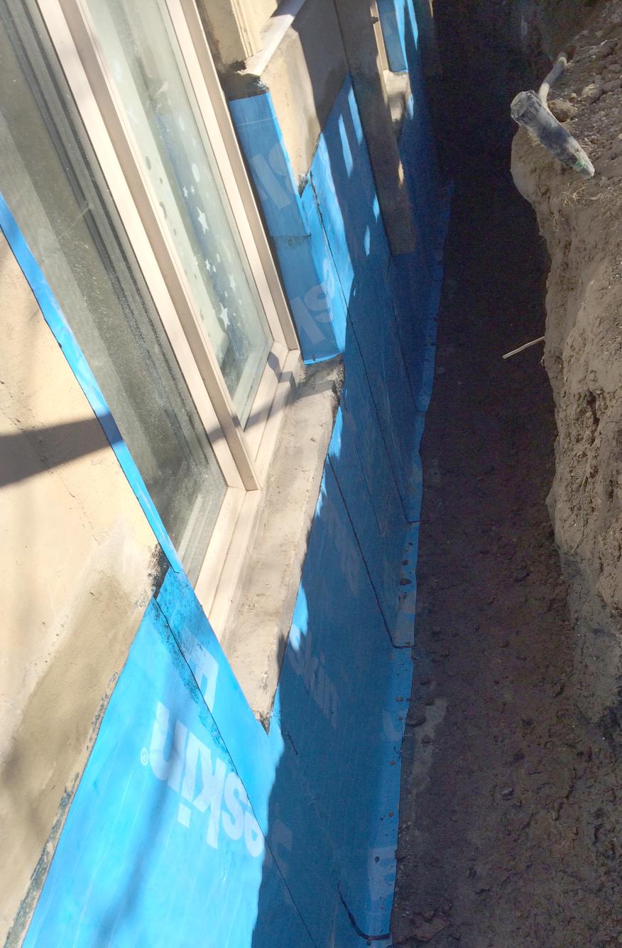 New Forte Window well waterproofing blueskin membrane repair
