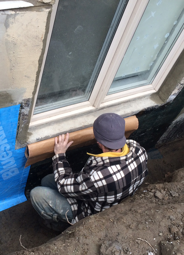 New Forte Window well waterproofing blueskin repair