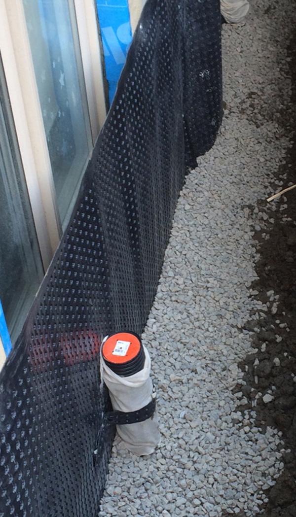 New Forte Window well waterproofing membrane repair