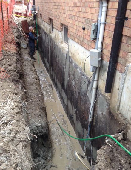 NewForte water proofing exterior wall 2