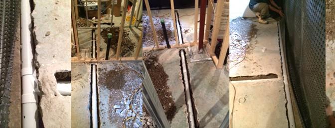 New forte Waterproofing INTERIOR drain pipe membrane concrete