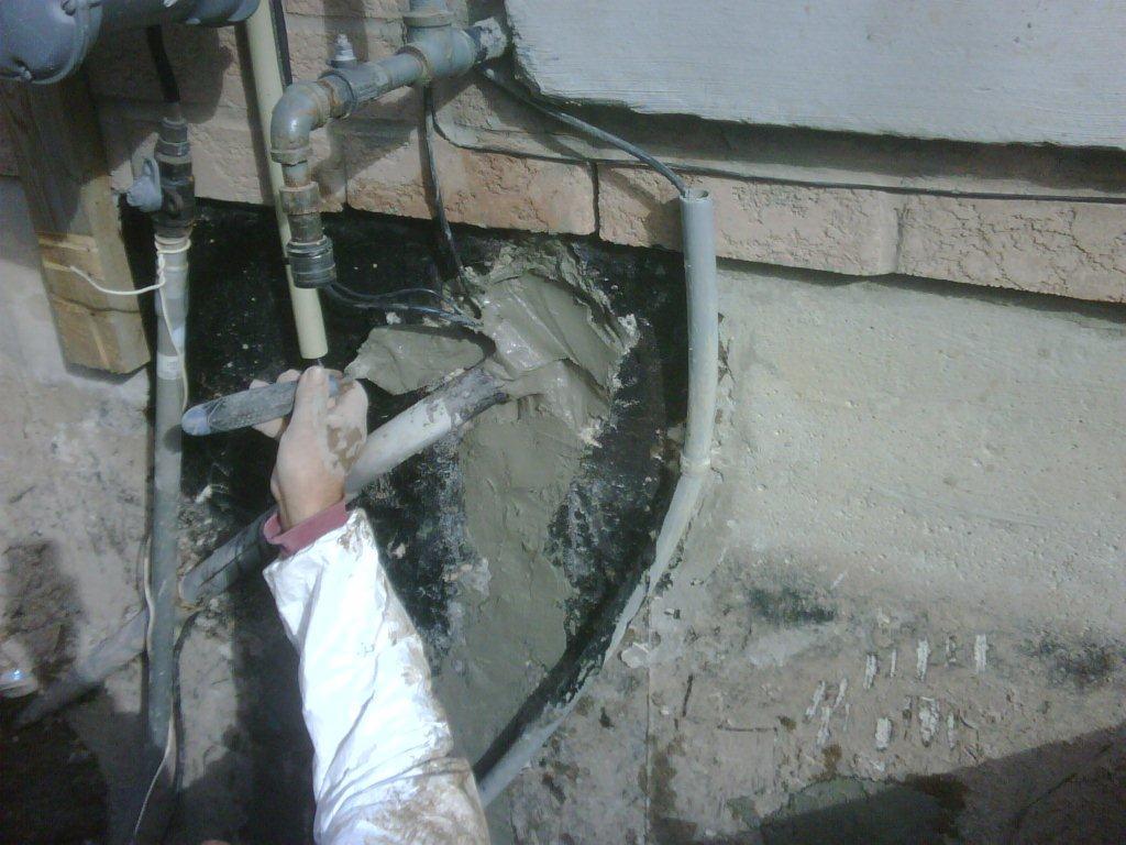 New forte waterproofing hydro conduit repair